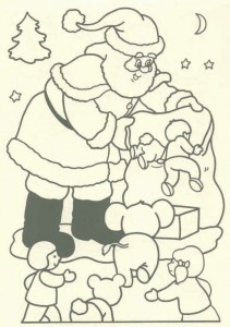 målarbok Jul - jultomten (44)