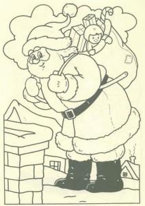 kleurplaat Kerstmis - de Kerstman (45)