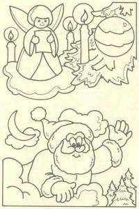 kleurplaat Kerstmis - de Kerstman (47)