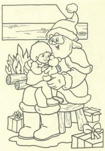 kleurplaat Kerstmis - de Kerstman (48)