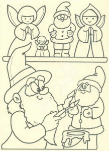 kleurplaat Kerstmis - de Kerstman (49)