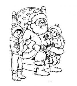 kleurplaat Kerstmis - de Kerstman (51)