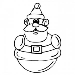 kleurplaat Kerstmis - de Kerstman (53)