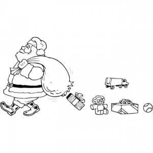 kleurplaat Kerstmis - de Kerstman (56)