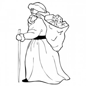 kleurplaat Kerstmis - de Kerstman (58)