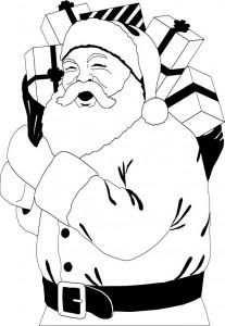 kleurplaat Kerstmis - de Kerstman (59)