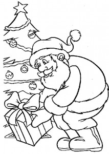 kleurplaat Kerstmis - de Kerstman (6)