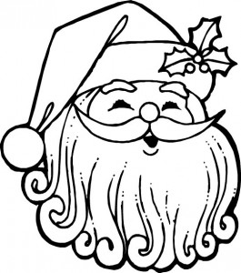 kleurplaat Kerstmis - de Kerstman (62)
