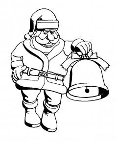 kleurplaat Kerstmis - de Kerstman (63)