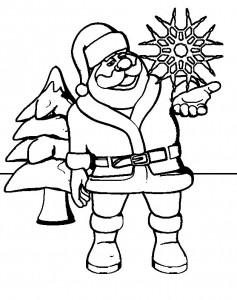 kleurplaat Kerstmis - de Kerstman (64)