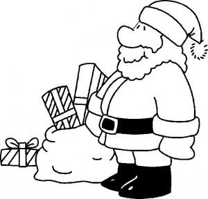 kleurplaat Kerstmis - de Kerstman (7)