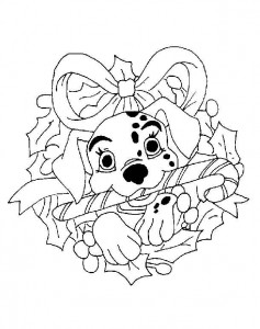 coloring Christmas Disney (13)