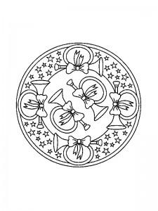 målarbok Julmandala (1)