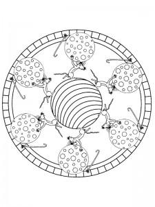 kleurplaat Kerstmis Mandala (2)
