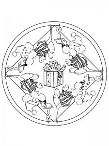 kleurplaat Kerstmis Mandala (3)