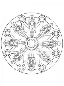 kleurplaat Kerstmis Mandala (4)
