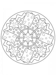 kleurplaat Kerstmis Mandala (5)