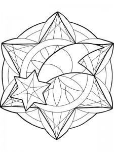 kleurplaat Kerstmis Mandala (6)