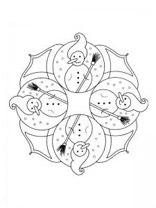 kleurplaat Kerstmis Mandala (7)