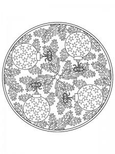 χρωματισμός Χριστουγεννιάτικες μπάλες Mandala