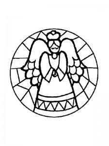 coloring Christmas Mandala angel