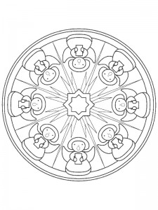 coloring Christmas Mandala angels (2)