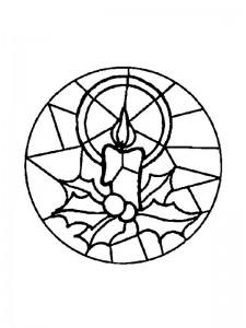 kleurplaat Kerstmis Mandala kaars