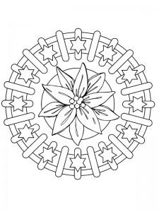 kleurplaat Kerstmis Mandala kerstster