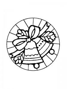 coloring Christmas Mandala bells