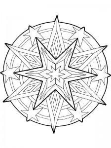 kleurplaat Kerstmis Mandala ster (1)