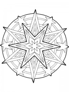 coloring Christmas Mandala star (1)