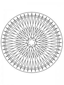 coloring Christmas Mandala star (2)