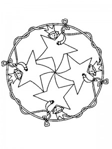 kleurplaat Kerstmis Mandala ster (3)
