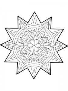kleurplaat Kerstmis Mandala ster