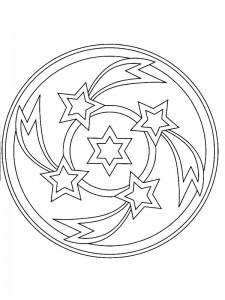 kleurplaat Kerstmis Mandala sterren