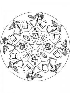 kleurplaat Kerstmis Mandala