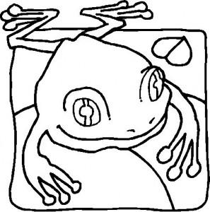 Dibujo para colorear Ranas (26)