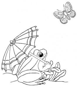 Dibujo para colorear Ranas (28)
