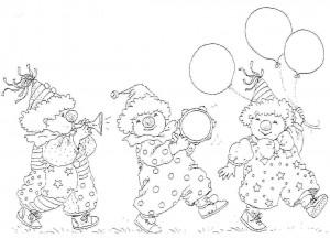 målarbok Barnens clown