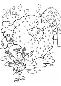 coloring page king candy 3