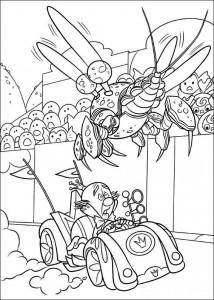 målarbok Kung godis cybug