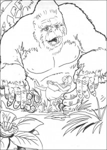 kleurplaat King Kong (9)