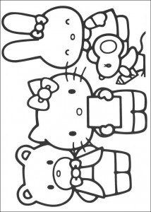 coloring page Kitty and her friends (1)