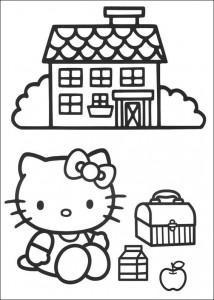 målarbok Kitty picknick