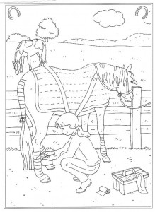 coloring page Klar for konkurransen