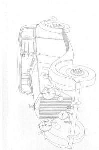 kleurplaat Klassieke auto s (1)
