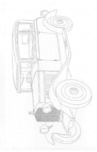 kleurplaat Klassieke auto s (10)