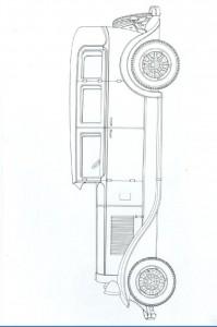 kleurplaat Klassieke auto s (13)