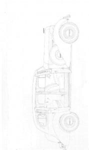 kleurplaat Klassieke auto s (4)