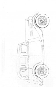 kleurplaat Klassieke auto s (5)